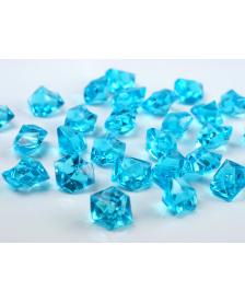 Krištáľový ľad, tyrkysový, 25 x 21 mm