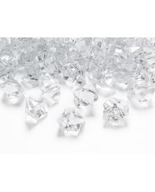 Krištáľový ľad, bezfarebný, 25 x 21 mm