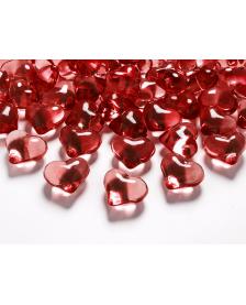 Krištáľové srdce, červené, 21 mm