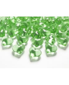 Krištáľové srdce, zelené, 21 mm