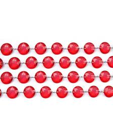 Krištáľová girlanda, červená, 1m