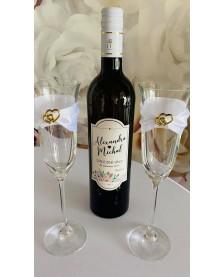 Etiketa na svadobné vínko