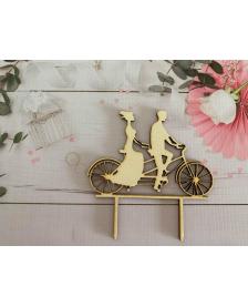 Drevený zápich bicykel