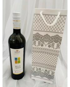 Darčeková taška biela vzorovaná