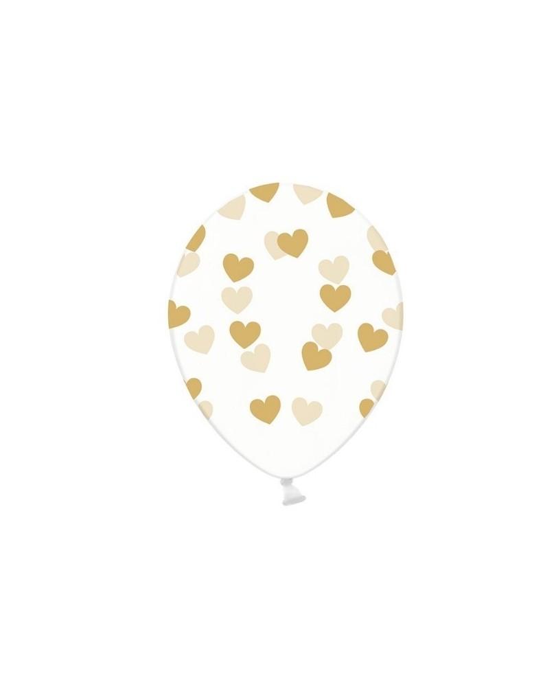 30 cm balóniky s potlačou  srdc