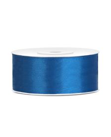 Saténová stuha, modrá, 25 mm / 25 m