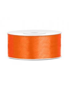 Saténová stuha, oranžová, 25 mm / 25 m