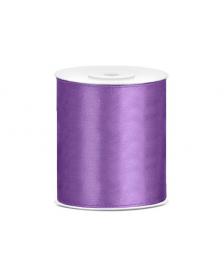 Saténová stuha, farba levanduľa, 100 mm / 25