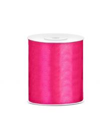 Saténová stuha, tmavo ružová, 100 mm / 25 m