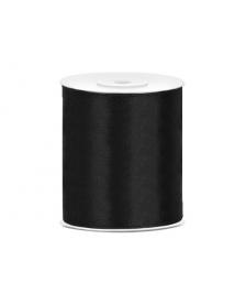 Saténová stuha, čierna, 100 mm / 25 m