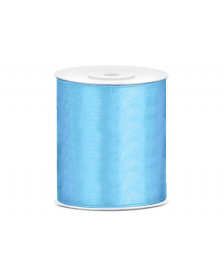 Saténová stuha, modrá, 100 mm / 25 m