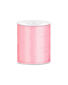 Saténová stuha, ružová, 100 mm / 25 m