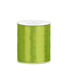 Saténová stuha farba zelená, 100 mm / 25 m