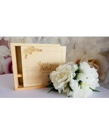 Drevená krabička na fotky aUSB
