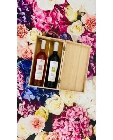 Drevný box na 2 vína