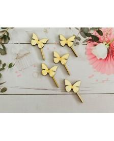 Drevený zápich - Motýliky
