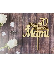 Drevený zápich – Všetko najlepšie Mami 70
