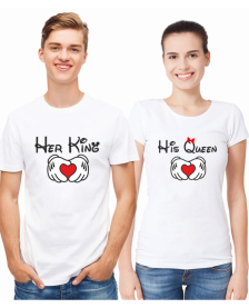HER KING AND HIS QUEEN - WHITE
