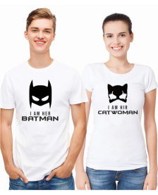 BATMAN AND CATWOMAN - WHITE