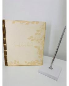 Svadobná kniha drevená 21x19