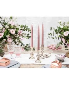 Konická sviečka, ružové zlato, 24 cm