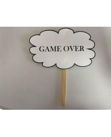 Papierová rekvizita- GAME OVER