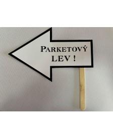 Papierová rekvizita- PARKETOVÝ LEV!