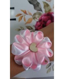 Náramok pre družičku- ružovo biely