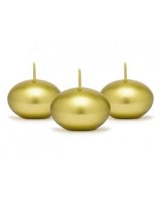 Metalizovaná plávajúca sviečka, zlato, 4 cm