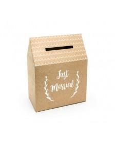 Krabica na Obálky- s nápisom Just Married, 30x30,5x16,5cm