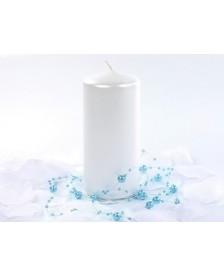 Metalizovaná klubová sviečka, perla, 12 x 6 cm