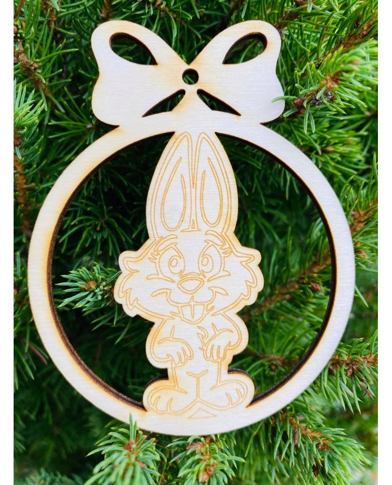 Vianočná guľa - zajačik