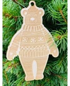 Vianočná ozdôbka - medveď