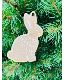 Vianočná ozdôbka - zajačik