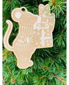 Vianočná ozdôbka - myš