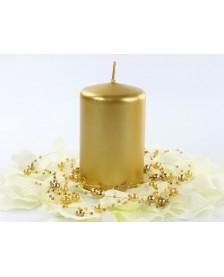 Metalizovaná klubová sviečka, zlato, 10 x 6,5 cm