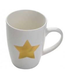 Hrnček keramický s motívom zlatej hviezdy