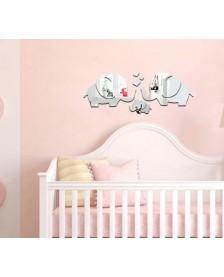 zrkadlo do detskej izby sloníky