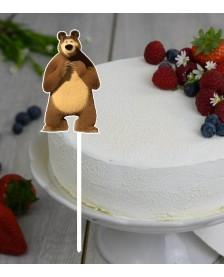 Plastový zápich medveď