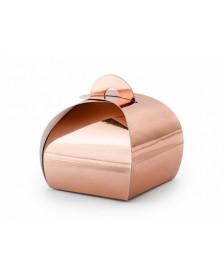 Krabičky vo farbe ružového zlata, 6x6x5,5cm