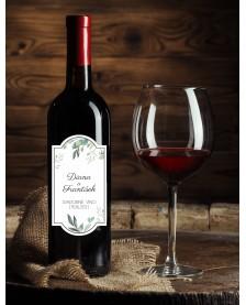 Etiketa na svadobné víno