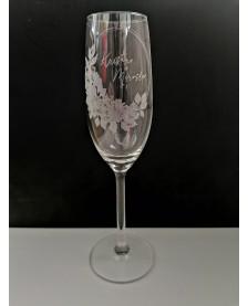 Gravírovaný pohár na šampanské