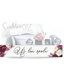 Svadobná ŠPZ 1