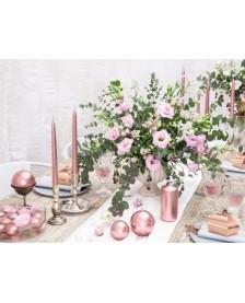 Guľatá sviečka, ružové zlato, 6cm