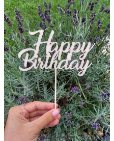 Drevený zápich - Happy Birthday