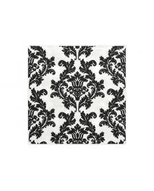 Obrúsky, biela / čierna, 33 x 33 cm