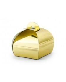 Krabičky, zlaté, 6x6x5,5cm