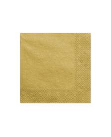 Trojvrstvové servítky, zlatý kov, 33x33cm