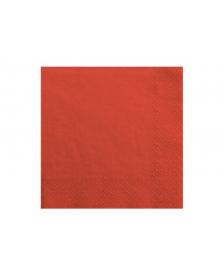 Trojvrstvové servítky, červené, 33x33cm