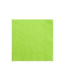 Trojvrstvové servítky, zelené, 33 x 33 cm